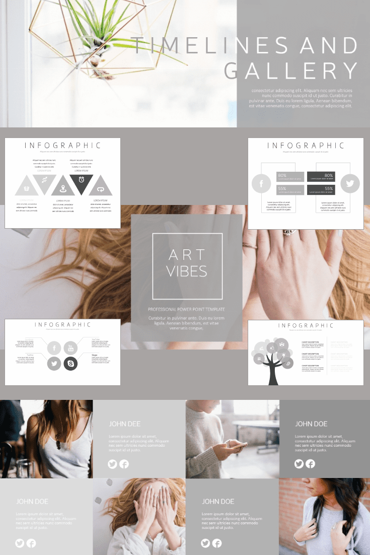 60+ Outstanding Simple PowerPoint Templates 2021: Free & Premium - 11 art vibes