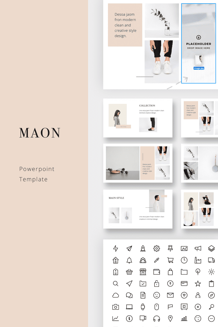 60+ Outstanding Simple PowerPoint Templates 2021: Free & Premium - 15 MAON PowerPoint Template