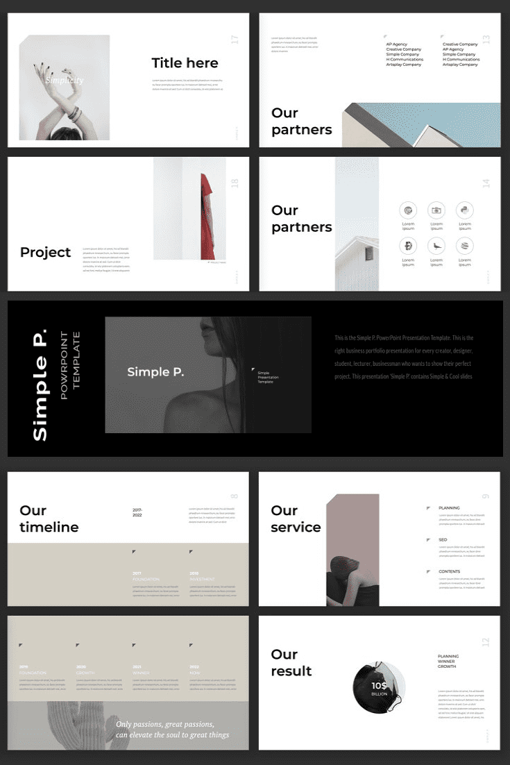 60+ Outstanding Simple PowerPoint Templates 2021: Free & Premium - 17 Simple P. PowerPoint Template