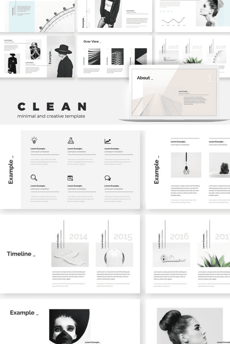 60+ Outstanding Simple PowerPoint Templates 2021: Free & Premium - 18 Clean Stylish Keynote Presentation