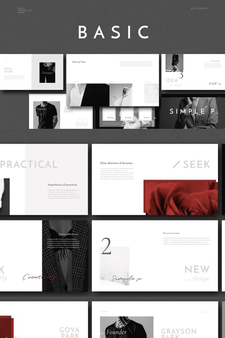 60+ Outstanding Simple PowerPoint Templates 2021: Free & Premium - 19 Basic PowerPoint Template
