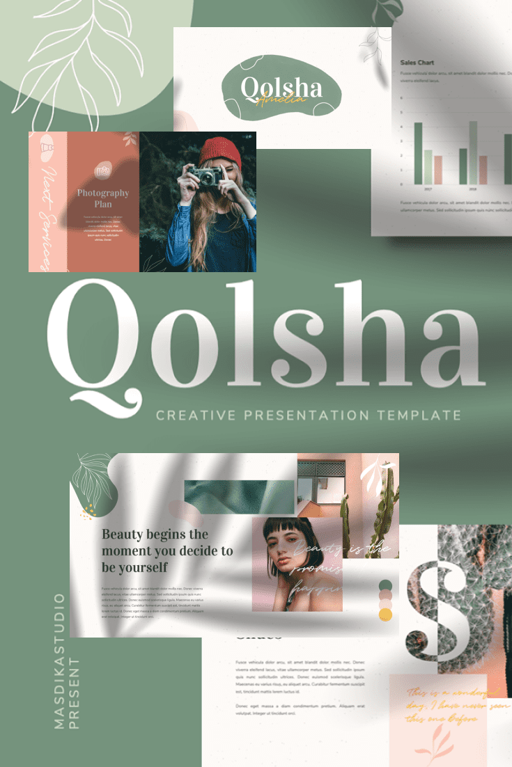 60+ Outstanding Simple PowerPoint Templates 2021: Free & Premium - 21 Qolsha Creative PowerPoint Template