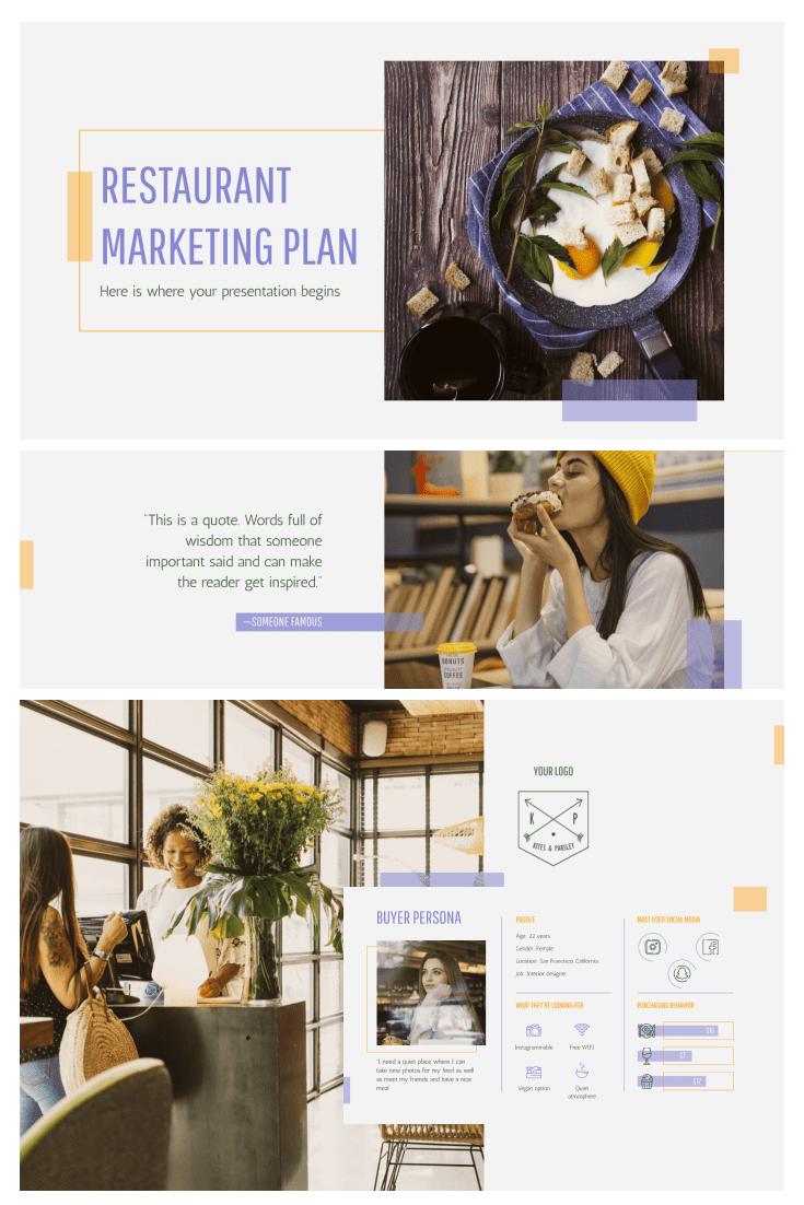 60+ Outstanding Simple PowerPoint Templates 2021: Free & Premium - 23 Restaurant Marketing Plan
