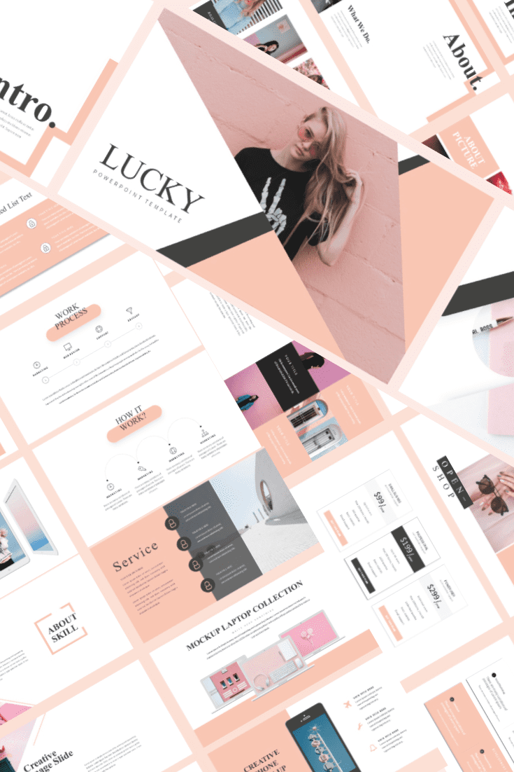 60+ Outstanding Simple PowerPoint Templates 2021: Free & Premium - 24 LUCKY Feminine Free Powerpoint Template