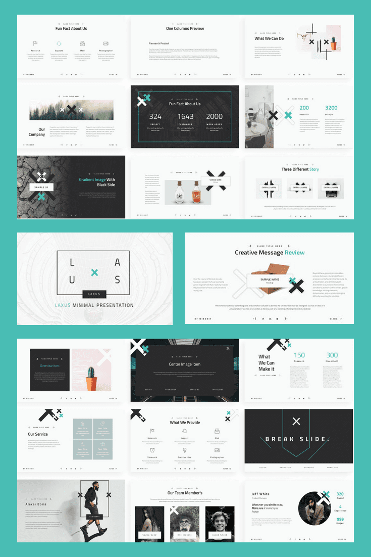 60+ Outstanding Simple PowerPoint Templates 2021: Free & Premium - 25 Zeen Aesthetic Free Powerpoint Template