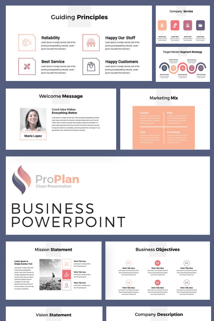 60+ Outstanding Simple PowerPoint Templates 2021: Free & Premium - 26 Modern Business Plan PowerPoint