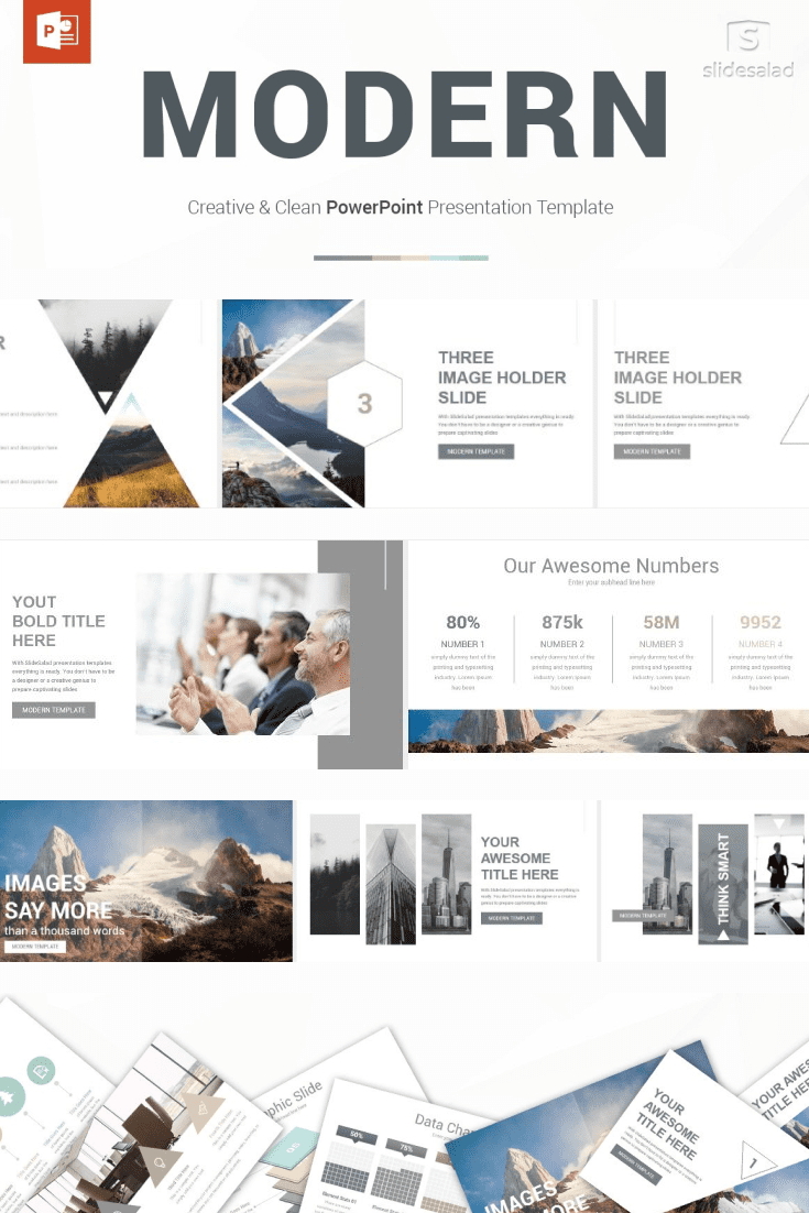 60+ Outstanding Simple PowerPoint Templates 2021: Free & Premium - 28 Modern PowerPoint Template