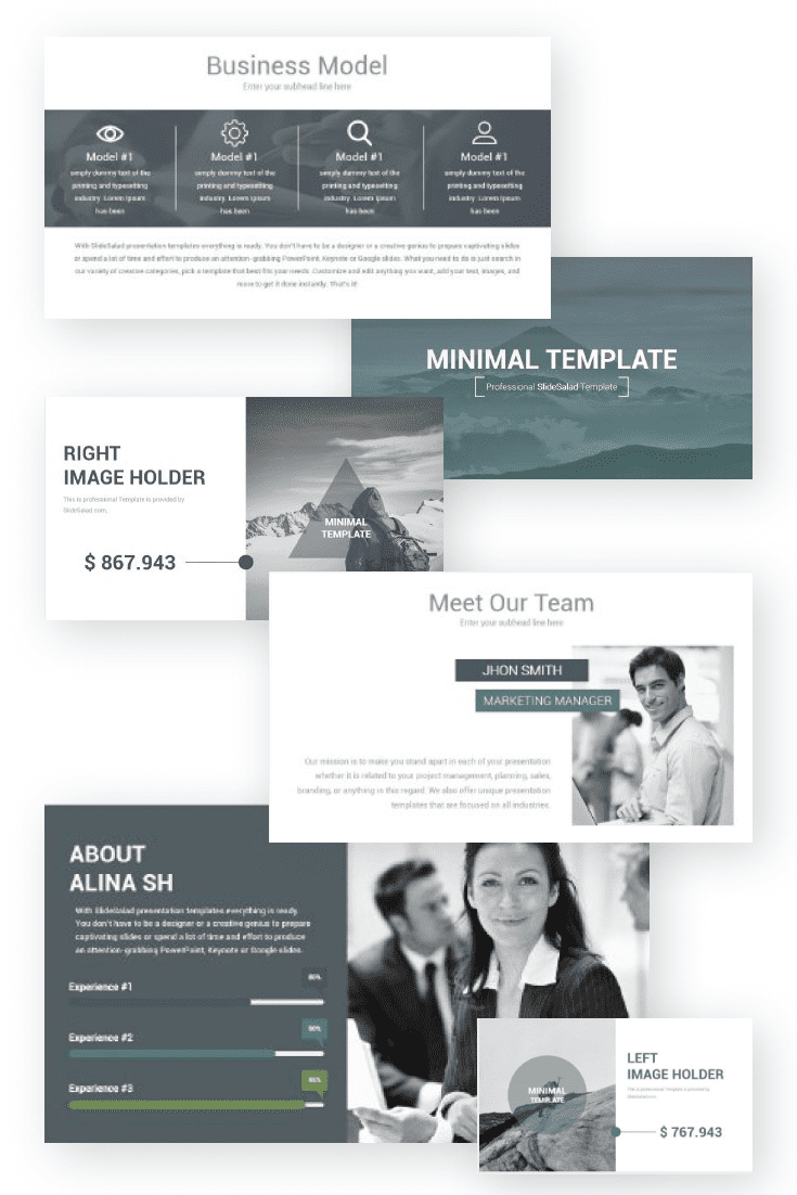60+ Outstanding Simple PowerPoint Templates 2021: Free & Premium - 29 Creative Minimal PowerPoint Template