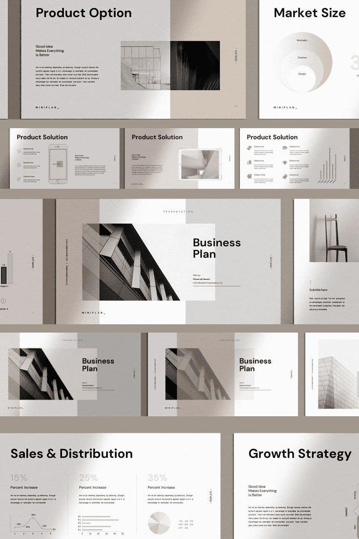 60+ Outstanding Simple PowerPoint Templates 2021: Free & Premium - 30 Business Plan PowerPoint Template