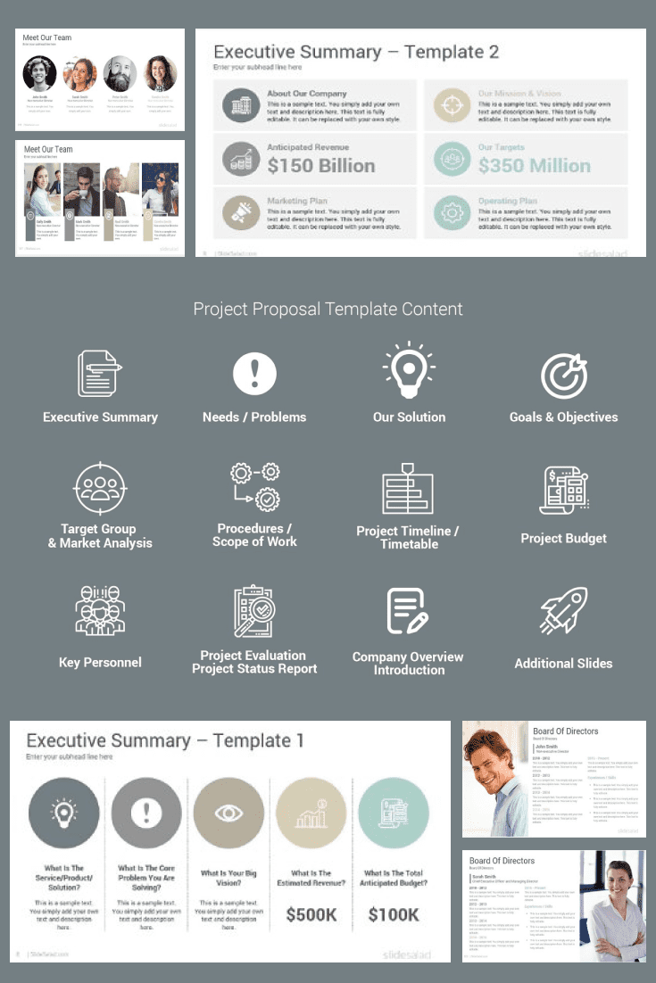 60+ Outstanding Simple PowerPoint Templates 2021: Free & Premium - 31 Project Proposal PowerPoint Template