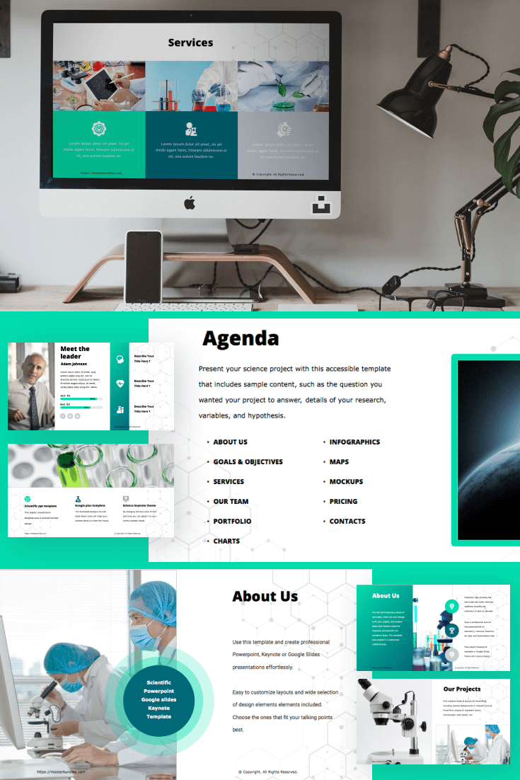 60+ Outstanding Simple PowerPoint Templates 2021: Free & Premium - 32 scientific ppt templates