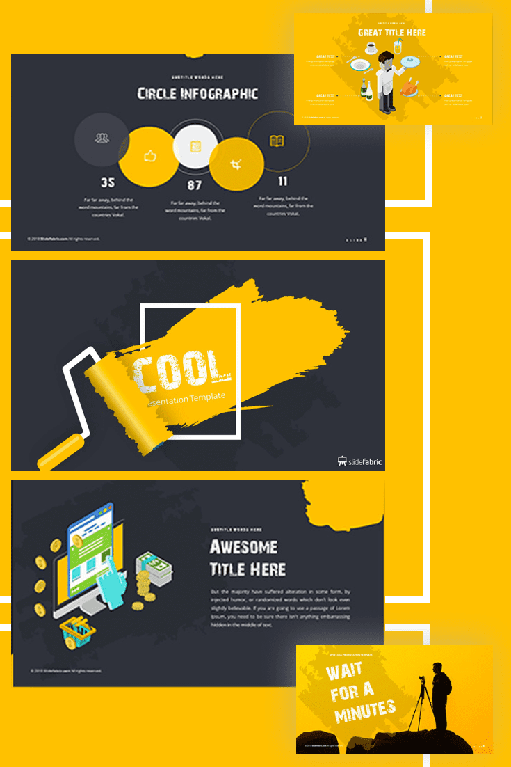 60+ Outstanding Simple PowerPoint Templates 2021: Free & Premium - 35 cool dark brush powerpoint template