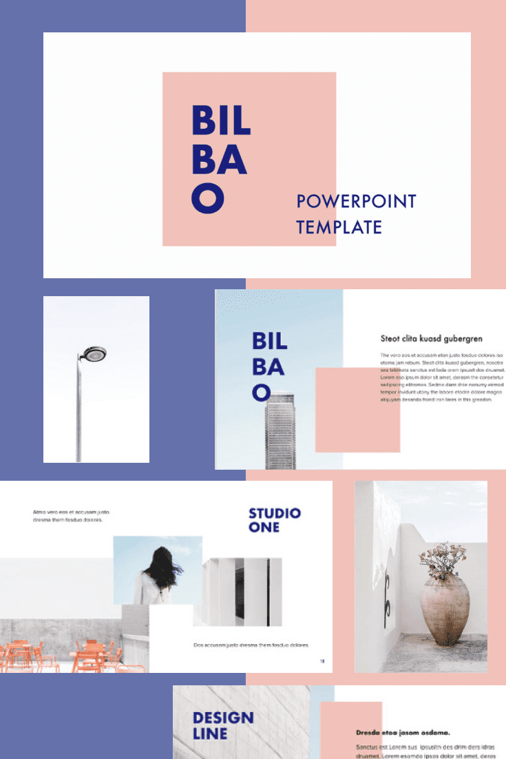 60+ Outstanding Simple PowerPoint Templates 2021: Free & Premium - 36 BILBAO PowerPoint Template