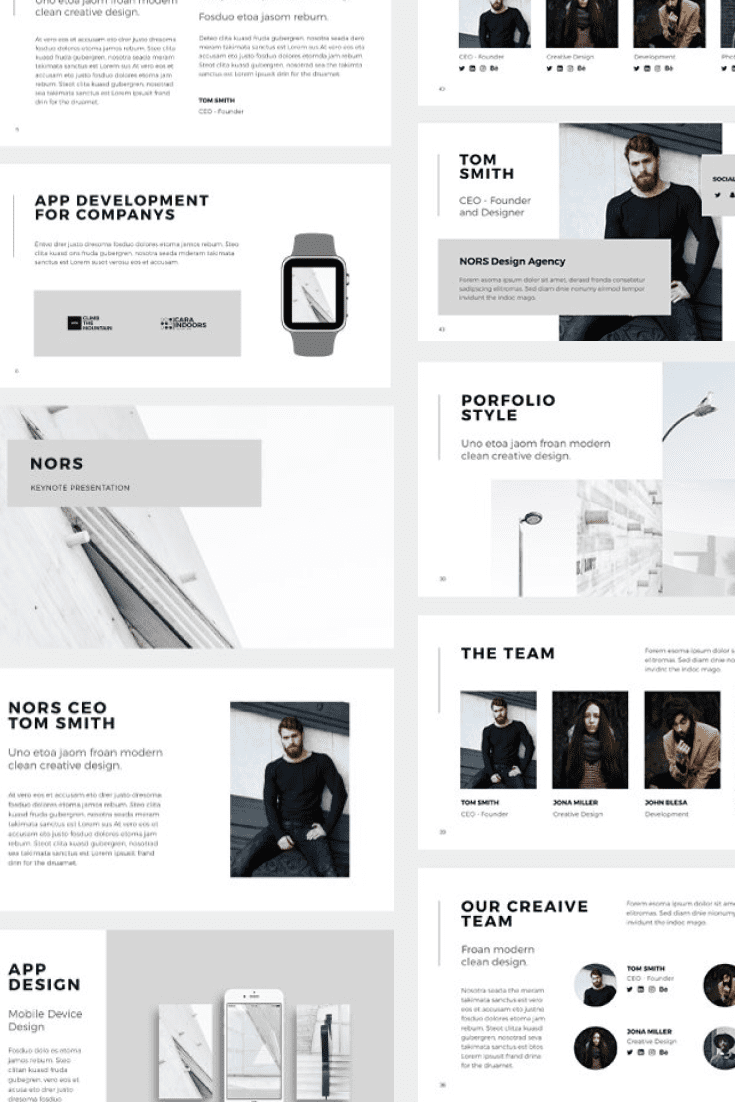 60+ Outstanding Simple PowerPoint Templates 2021: Free & Premium - 38 NORS Powerpoint Template
