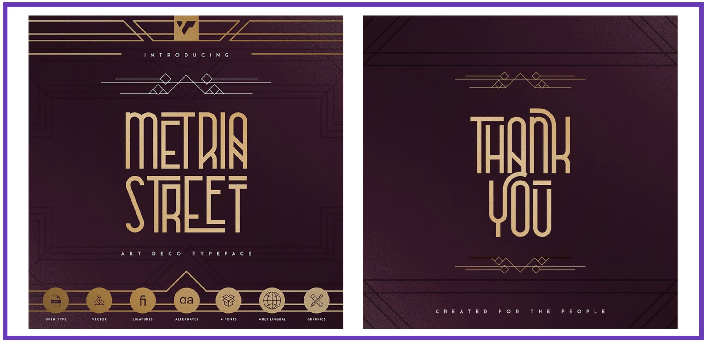 Metria Street – Art Deco Typeface.