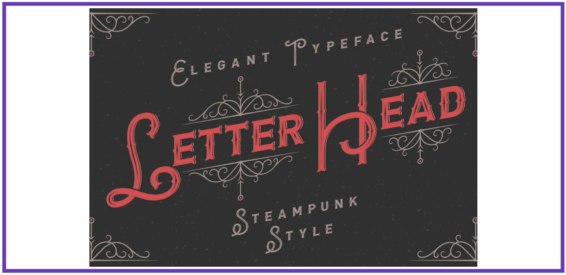Trendy Letterhead. Punk Font.