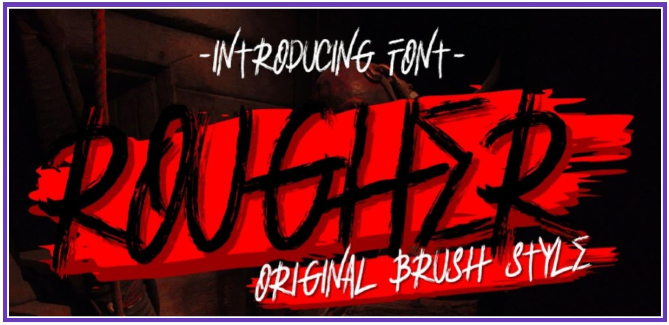 Premium Rougher. Punk Font.