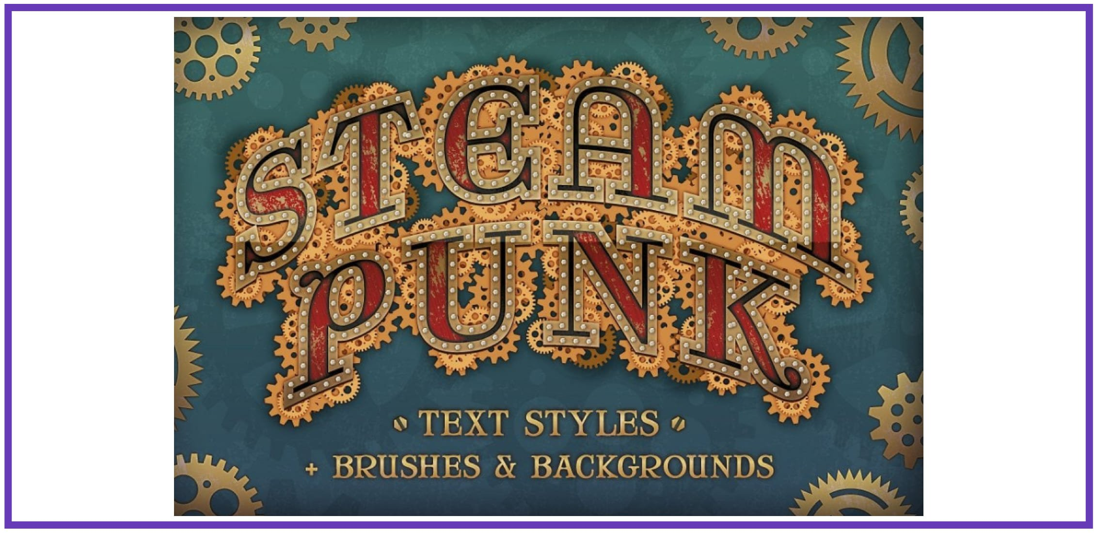 Gorgeous Steampunk Text Styles. Punk Font.