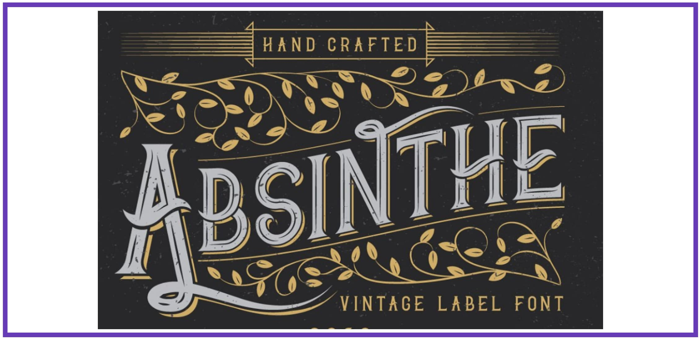 Fancy Absinthe. Punk Font.