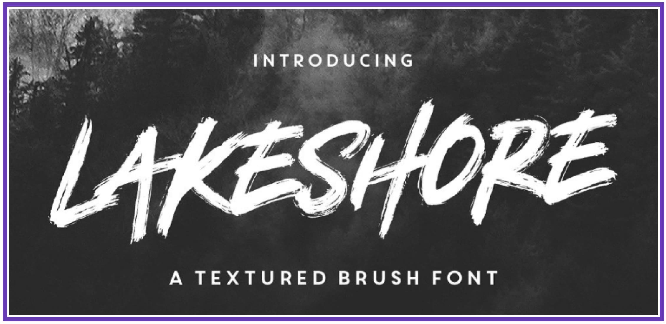 Eye-catching Lakeshore. Punk Font.