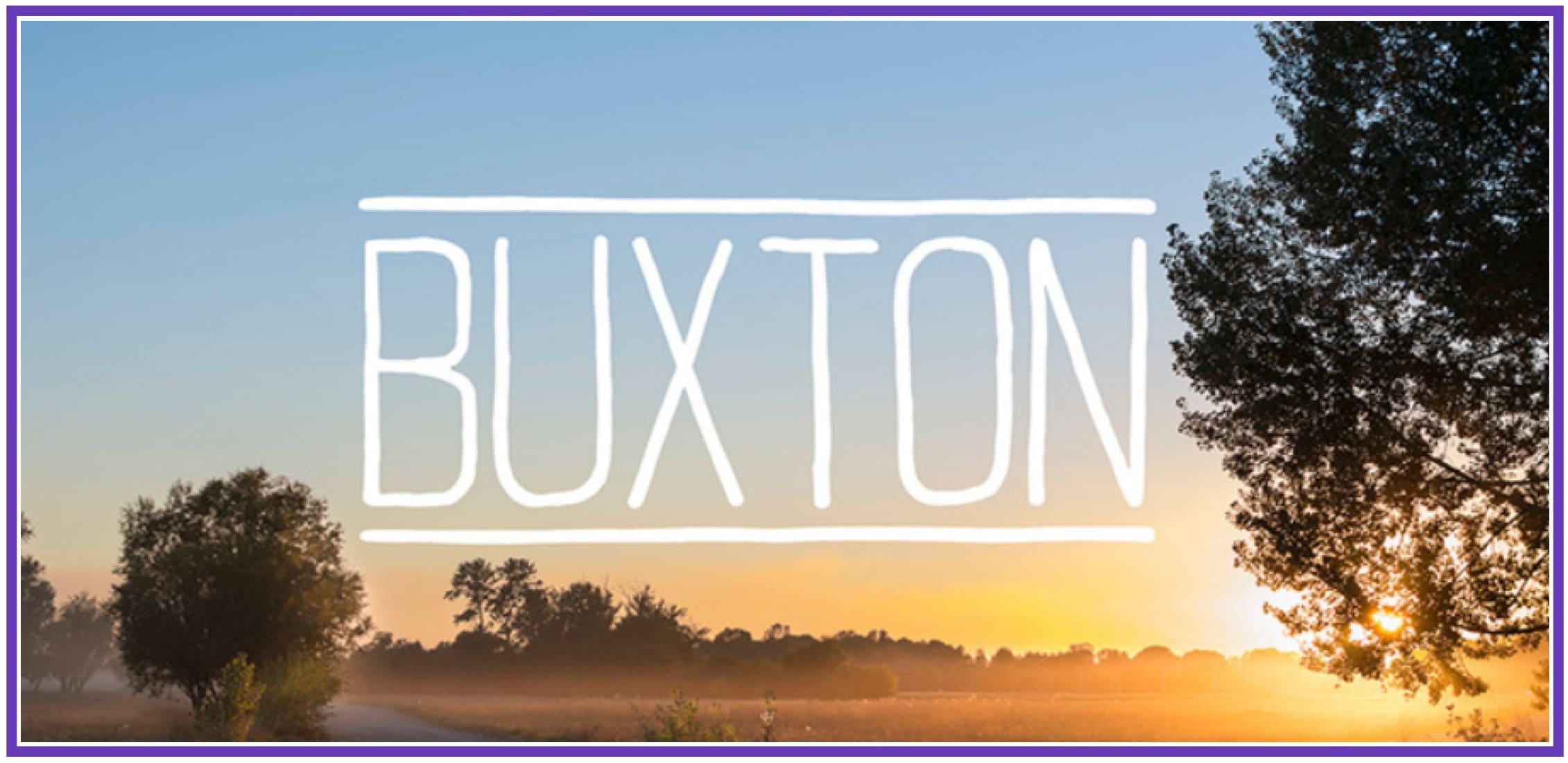 Minimalistic Buxton. Masculine Font.