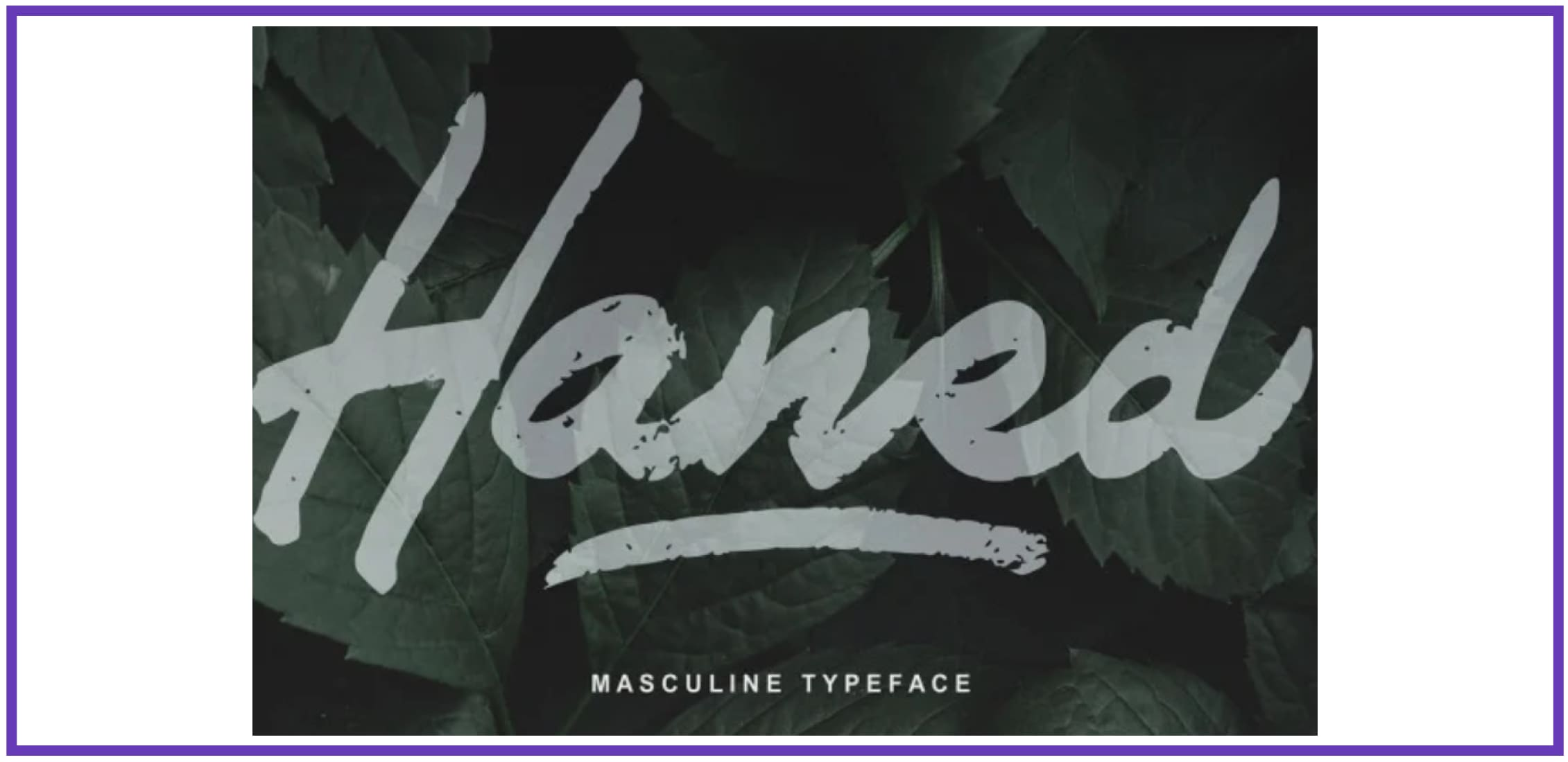 Modern Haned. Masculine Font.