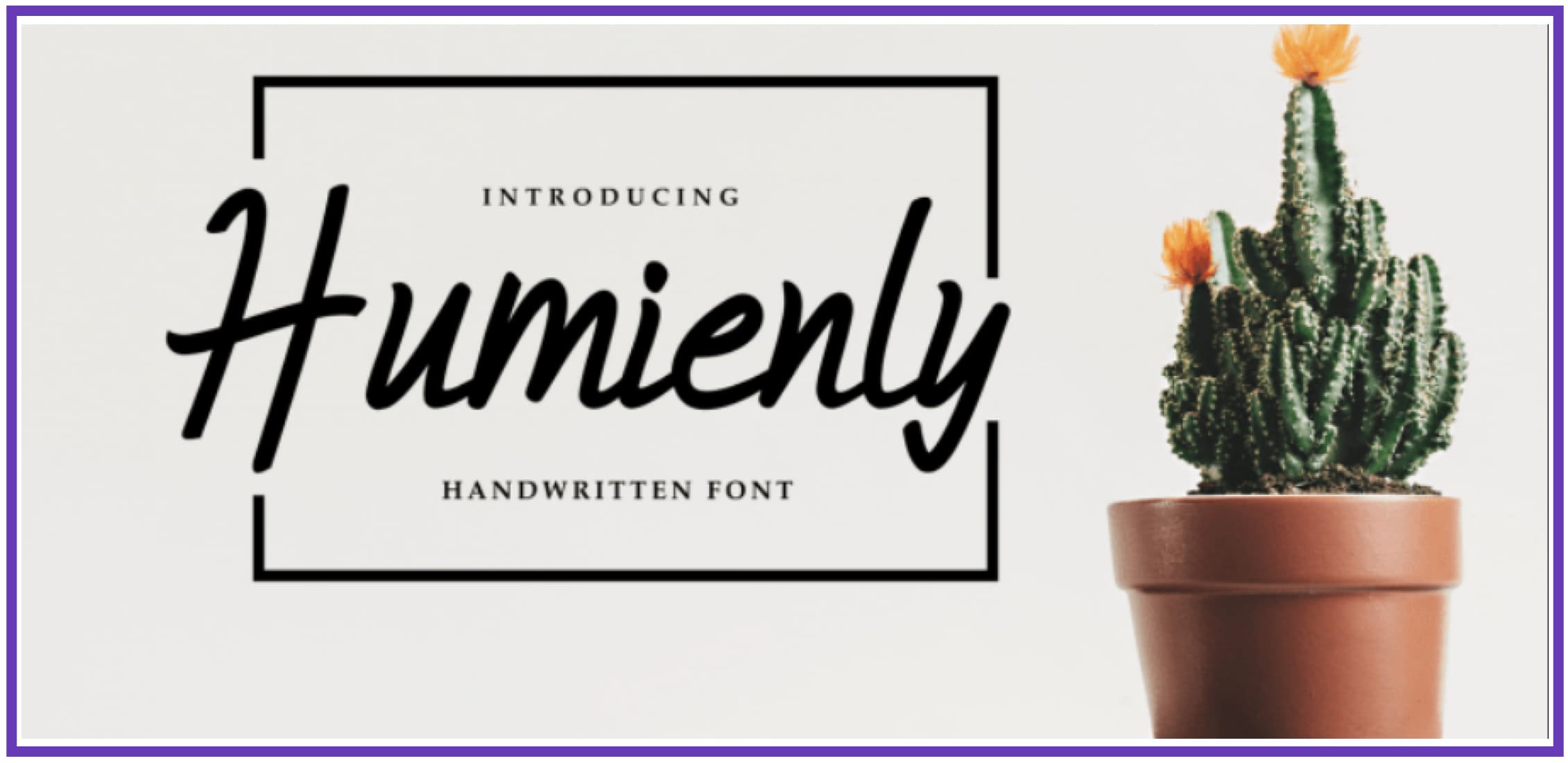 Trendy Humienly. Masculine Font.