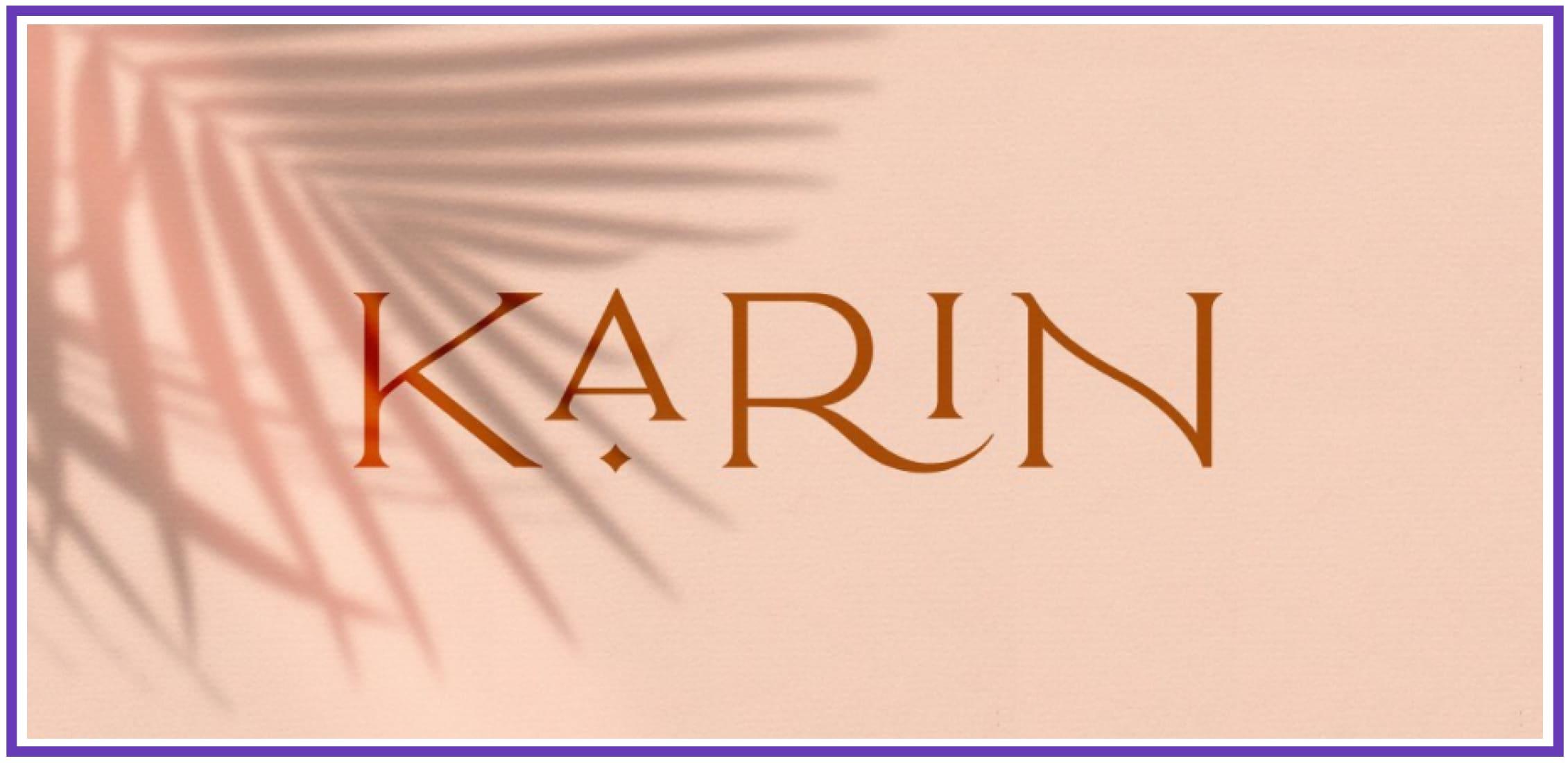 Lovely Karin. Masculine Font.