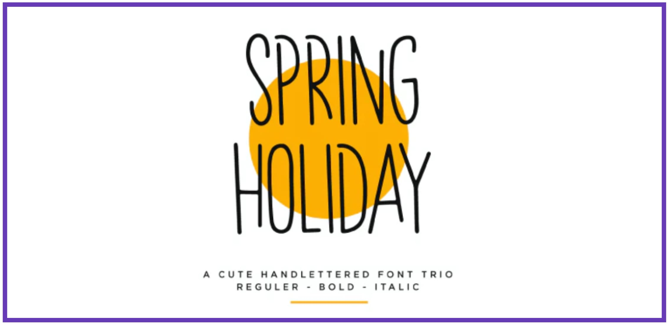 Intuitive Spring Holiday. Masculine Font.