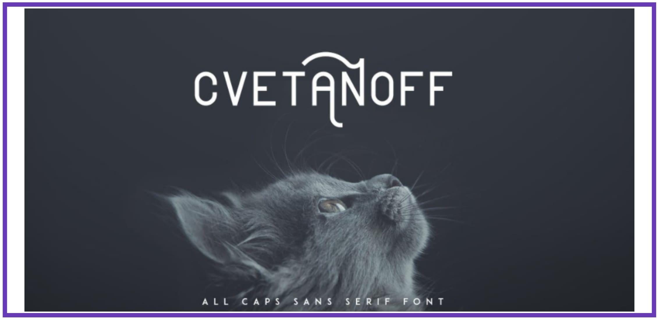 Creative Cvetanoff. Masculine Font.