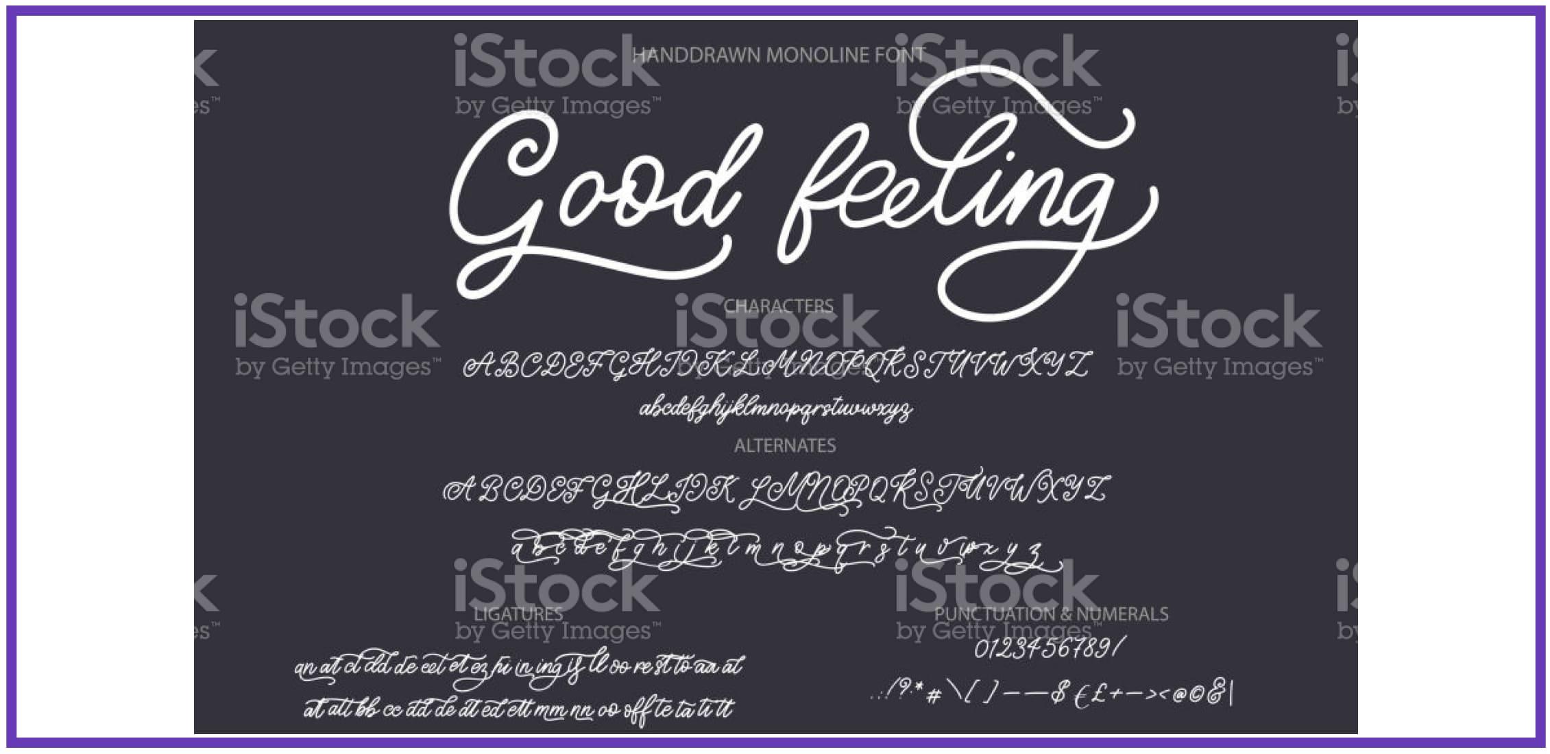 Charming Good Feeling. Masculine Font.