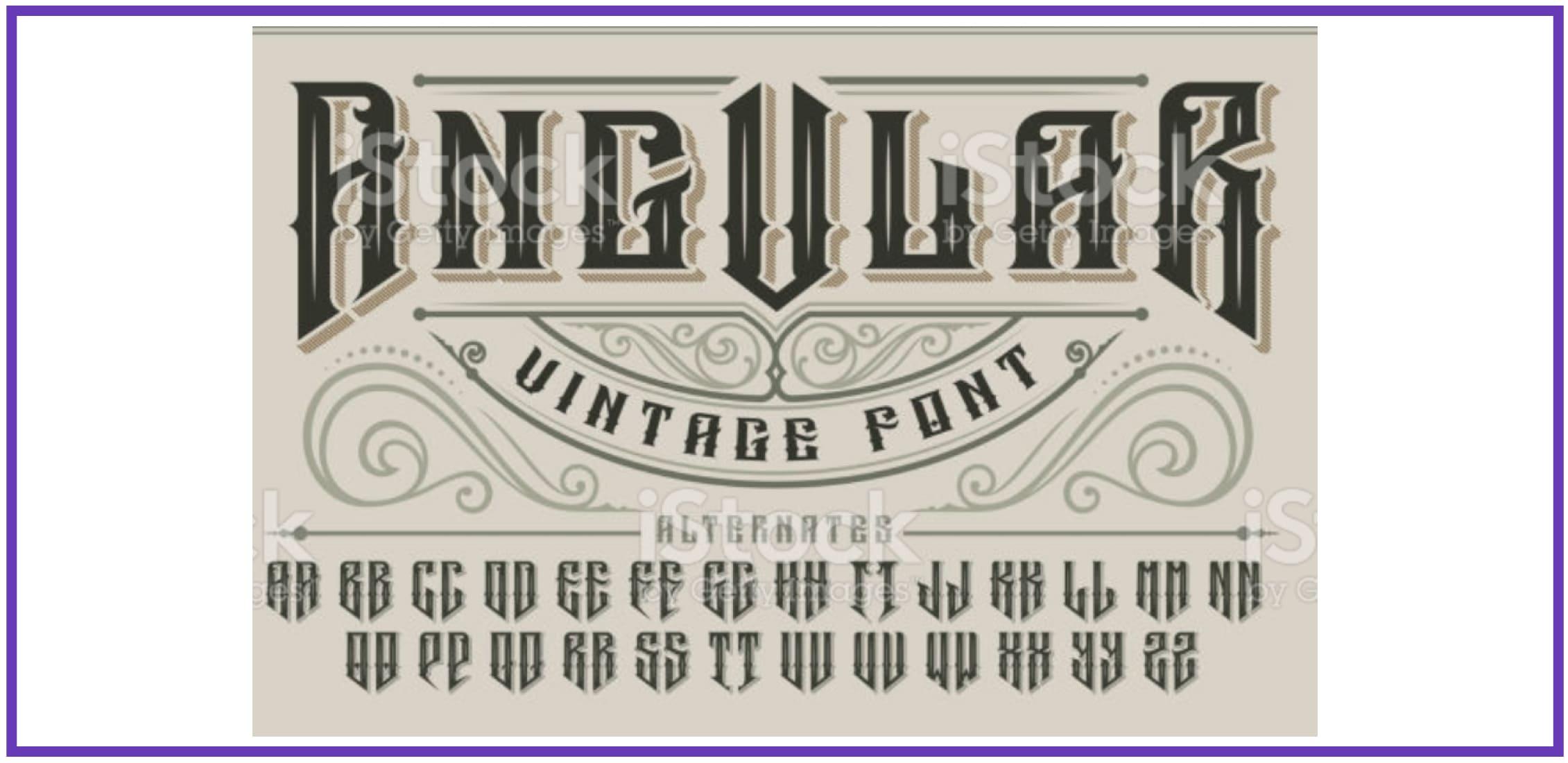Vintage-inspired Angular. Masculine Font.