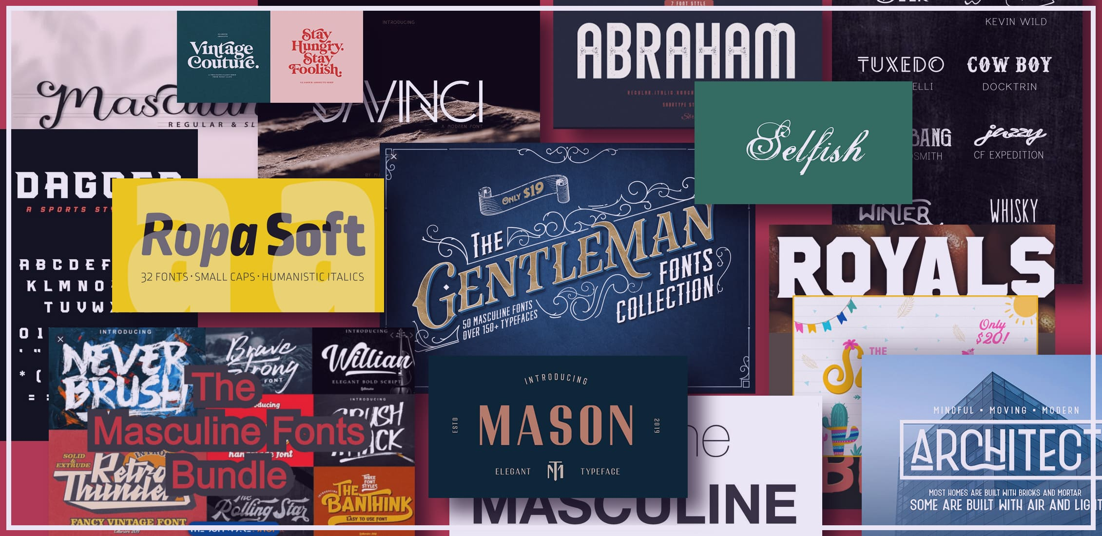 Examples Best Masculine Fonts.