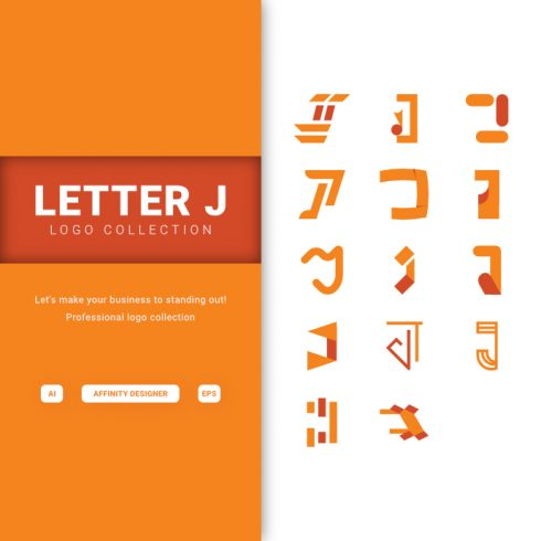 Letter J - Logo Collection - p1 2 490x490