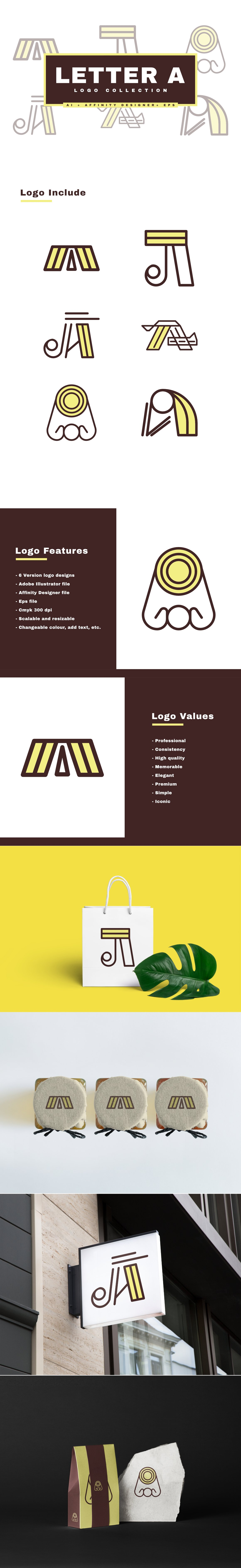 Letter A - Logo Collection - presentataion 3