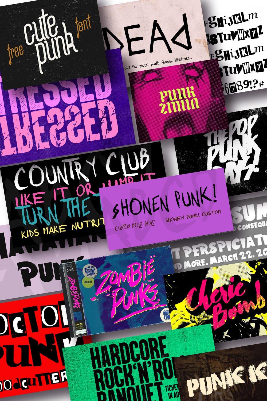 Best Punk Fonts. Pinterest Image.