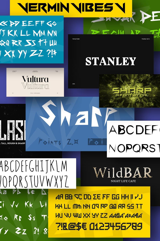 Best Sharp Fonts. Pinterest Image.