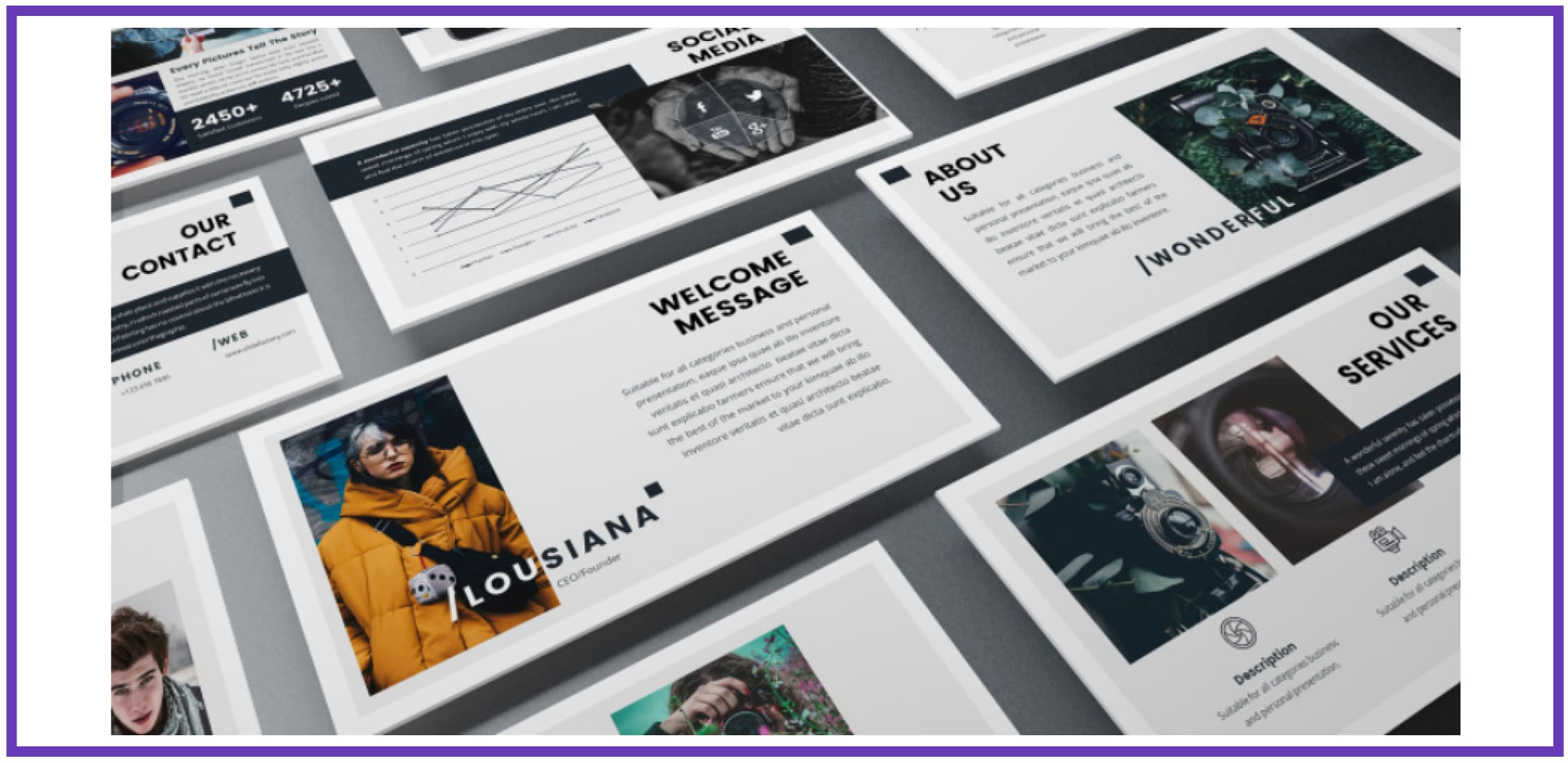 60+ Outstanding Simple PowerPoint Templates 2021: Free & Premium - simple powerpoint templates 255