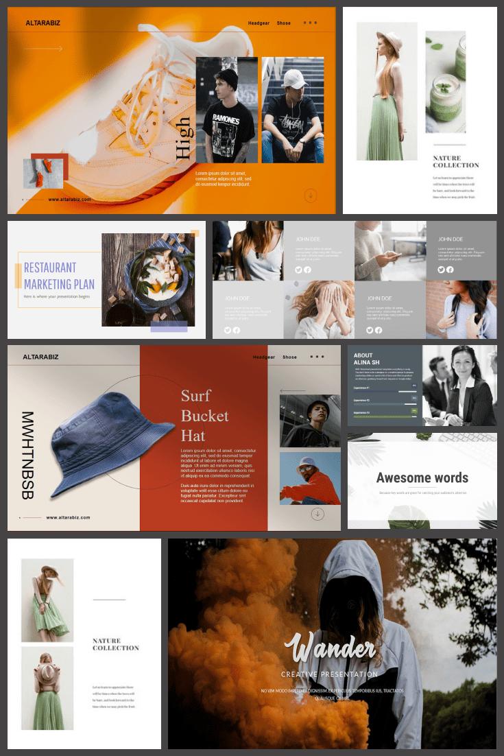Simple Powerpoint Templates. Pinterest Image.