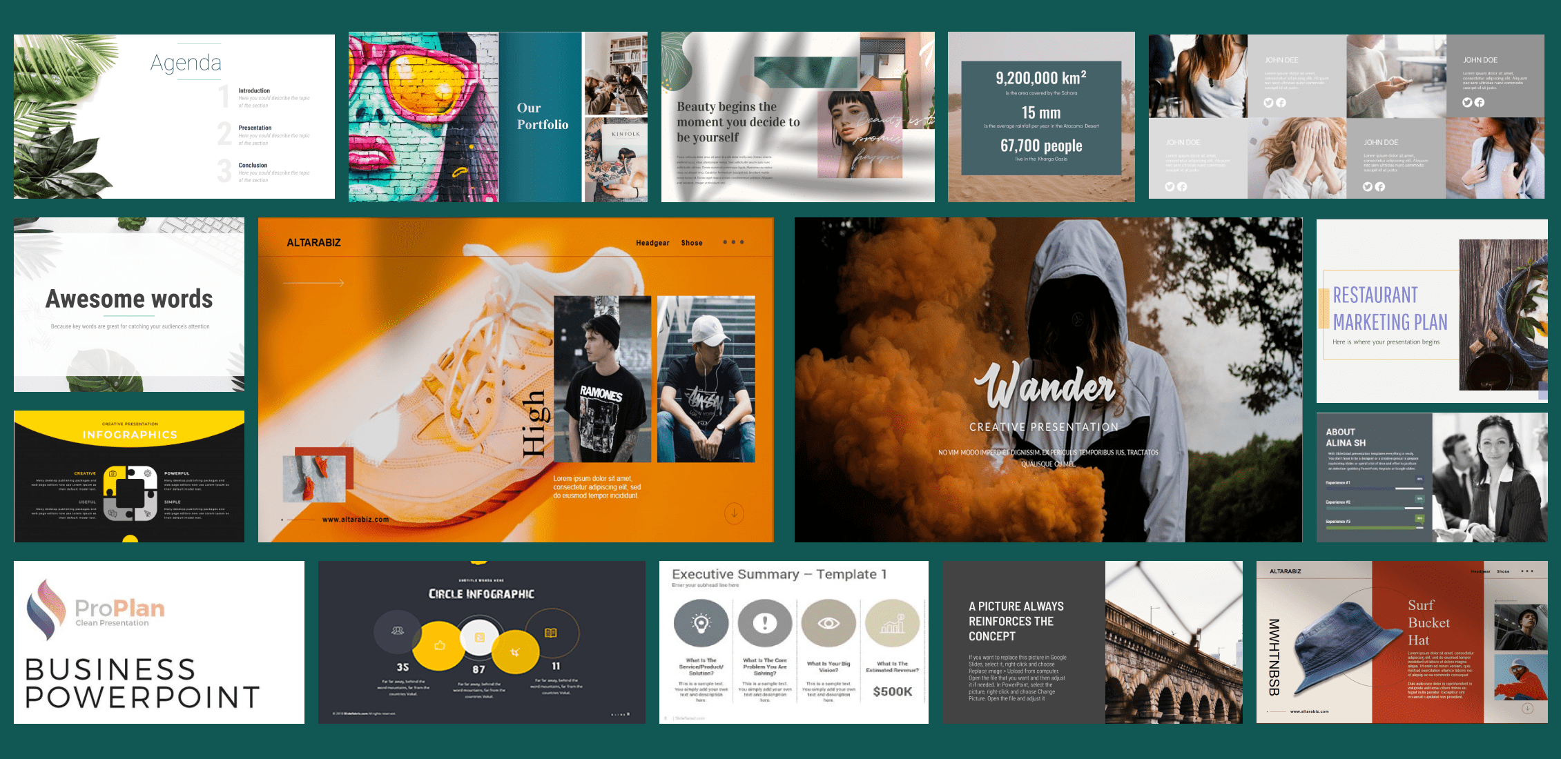Examples Simple Powerpoint Templates.