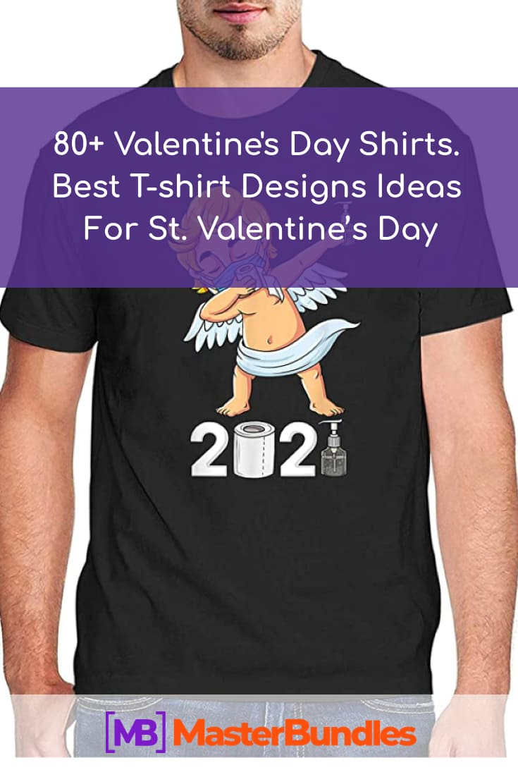Valentines Day Shirt. Pinterest Image.