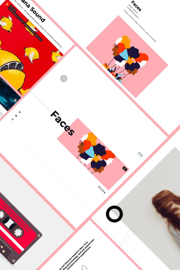 Unom - Creative Portfolio WP Theme. Collage.
