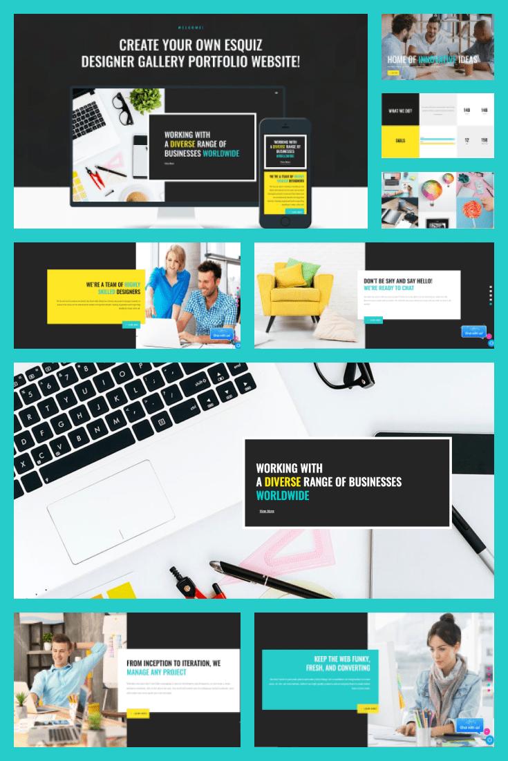 Wordpress theme Esquiz. Collage.