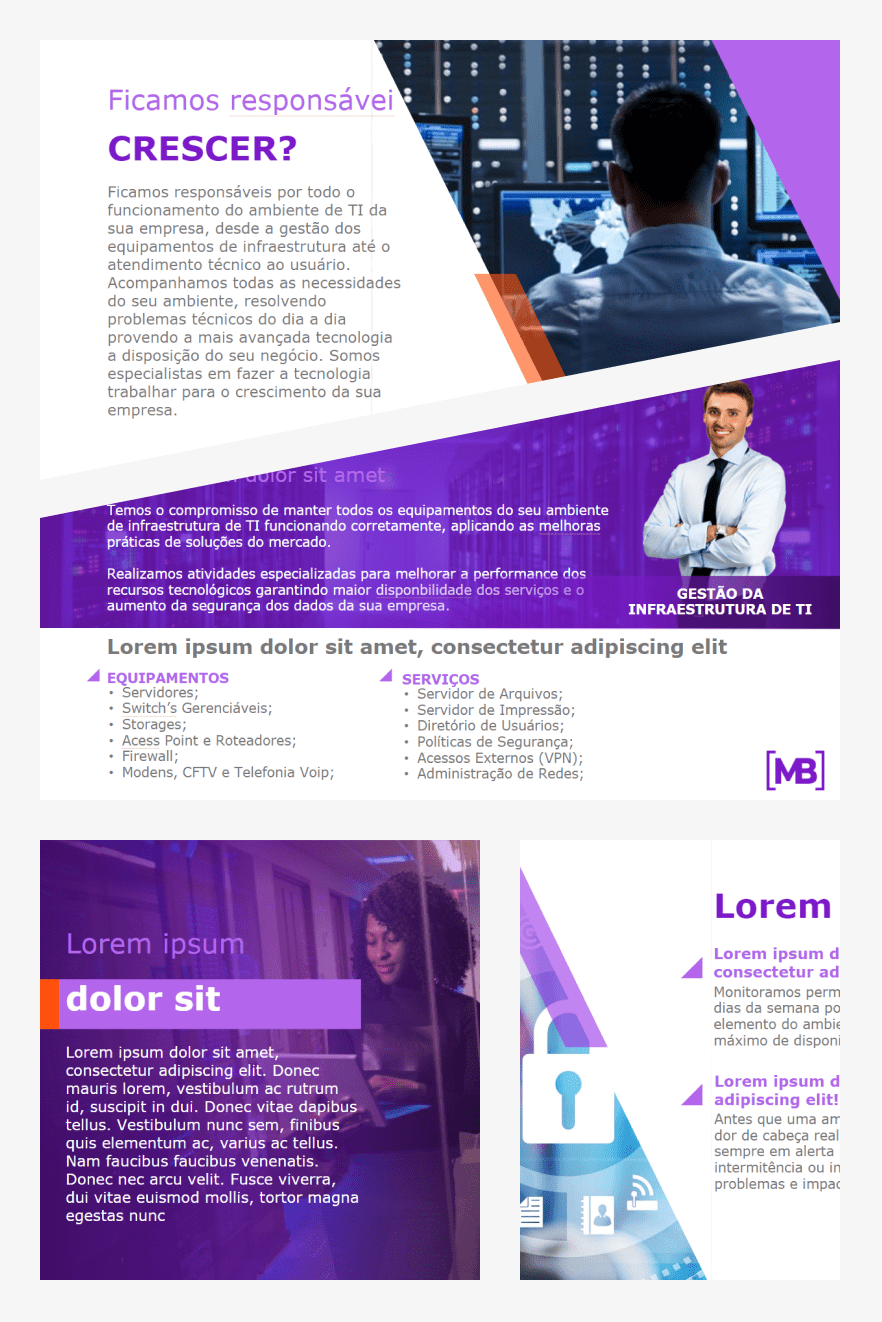 Business Presentation Template. Collage Image.