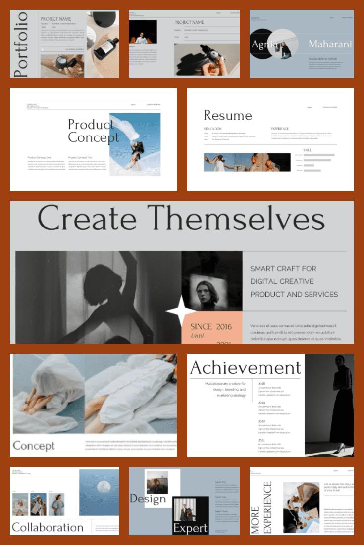 AGNIA Creative Portfolio. Collage Image.