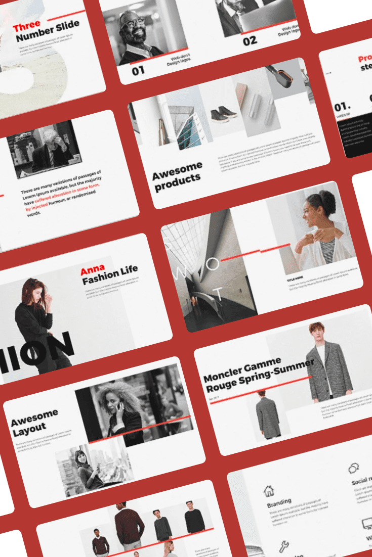 Every - Minimal PowerPoint Template. Collage Image.