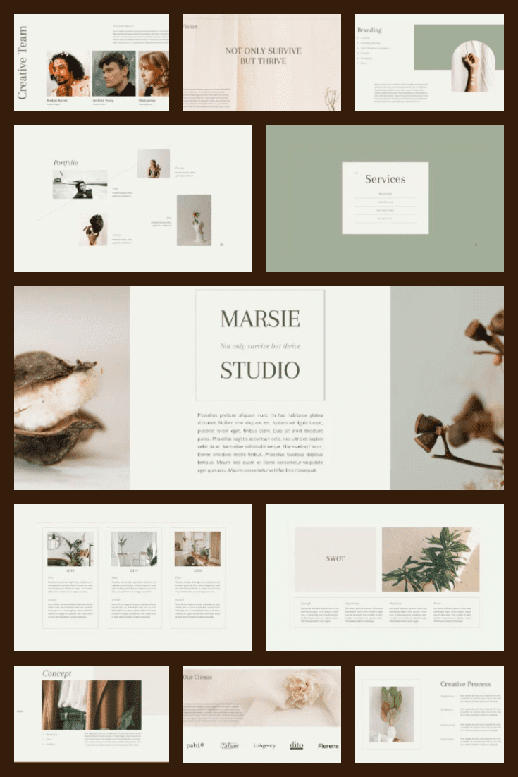 MARSIE - Creative PowerPoint. Collage Image.
