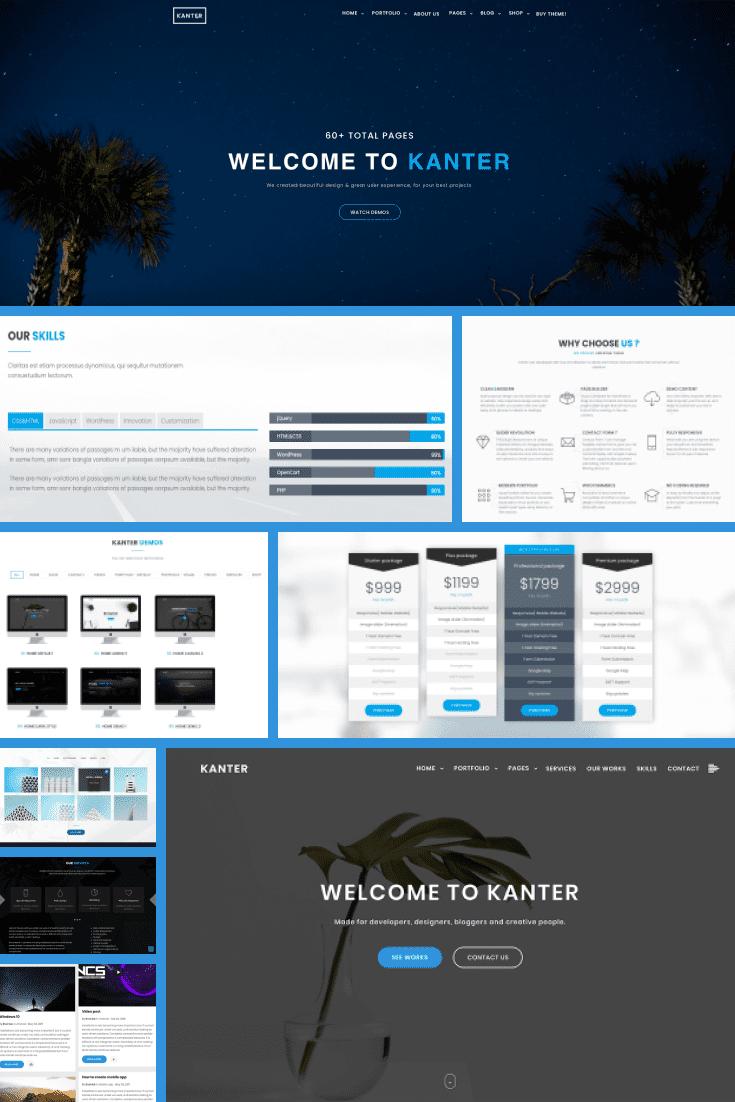Wordpress Theme Kanter. Collage.