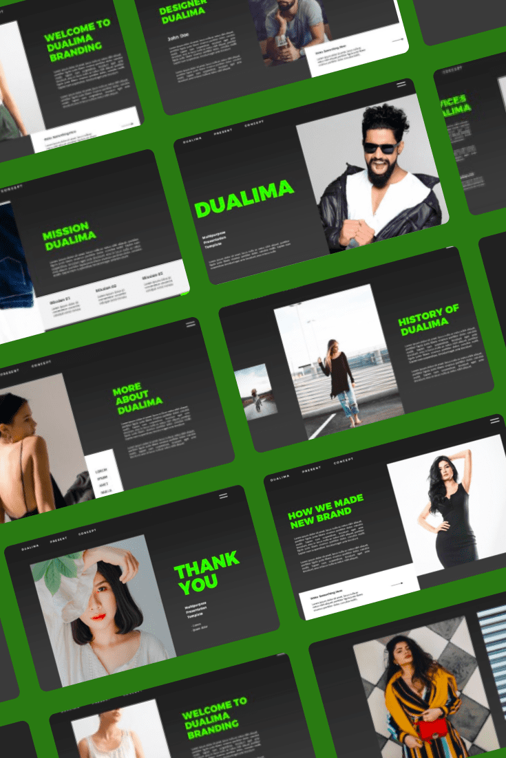 Dualima PowerPoint Template. Collage Image.