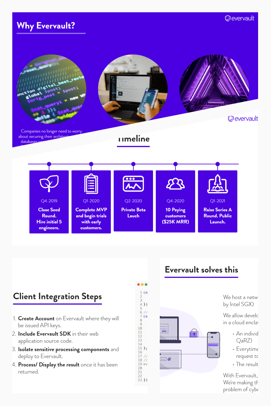Evervault Pitch Deck Template. Collage Image.